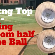 backspin tee, back spin tee line drives, more power to the ball